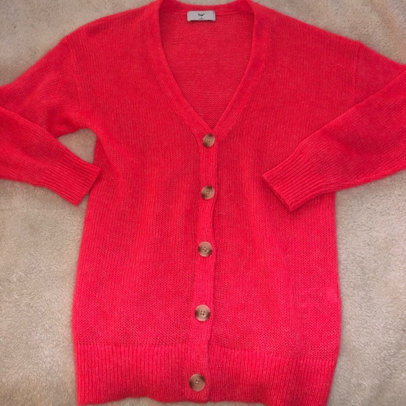 Aritzia Sweaters - TNA Pink Cardigan Sweater